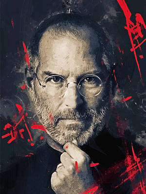 Steve Jobs Poster by Afterdarkness