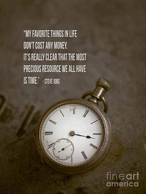 Steve Jobs Time Quote Poster by Edward Fielding