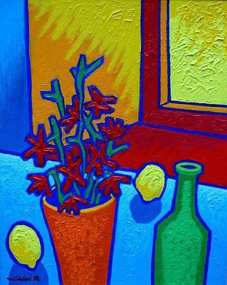 still Life At Yellow Window Poster by John  Nolan