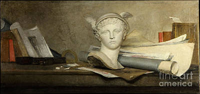Still Life With Attributes Of The Arts  Poster by Celestial Images