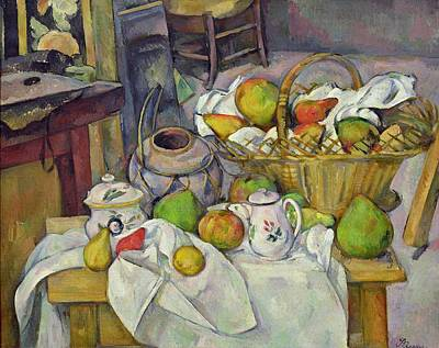 Still Life With Basket Poster by Paul Cezanne