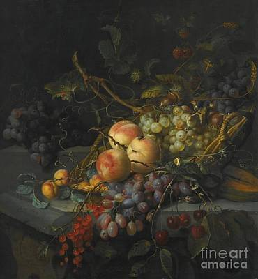 Still Life With Grapes Poster by After Jacob
