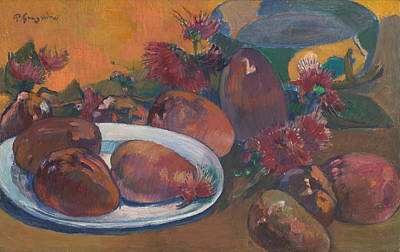 Still Life With Mangos Poster by Paul Gauguin