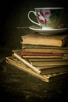 Still Life With Old Books And The Teacup Poster by Jaroslaw Blaminsky