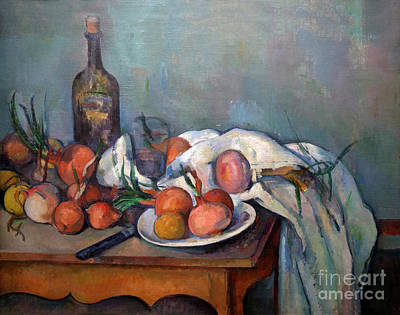 Still Life With Onions, Nature Morte Aux Oignons, By Paul Cezann Poster by Peter Barritt