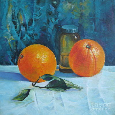 Still Life With Oranges Poster by Elena Oleniuc
