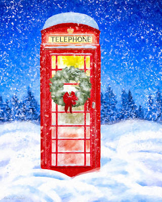 Still Night - A British Christmas Poster by Mark Tisdale