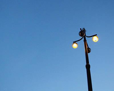 Stockholm Street Lamp Poster by Linda Woods