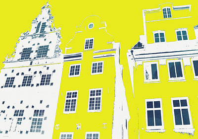 Stockholm Windows Poster by Linda Woods