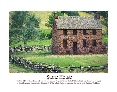 Stone House Poster by Don Lovett
