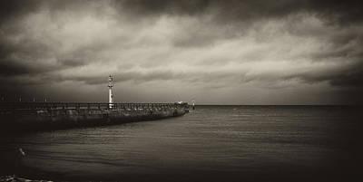 Stone Pier Pointe De Hoc Poster by Hugh Smith