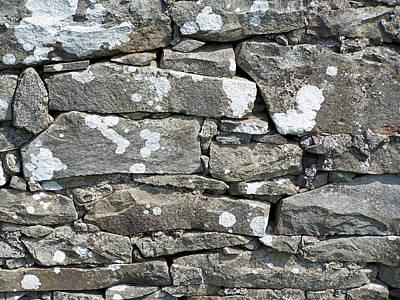 Stone Wall Detail Doolin Ireland Poster by Teresa Mucha