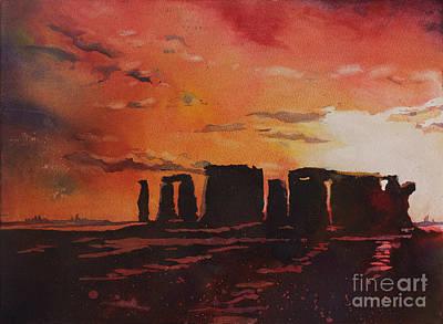 Stonehenge Sunset Poster by Ryan Fox