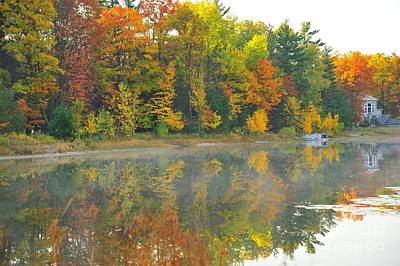 Stoneledge Lake Autumn Waterfront Poster by Terri Gostola