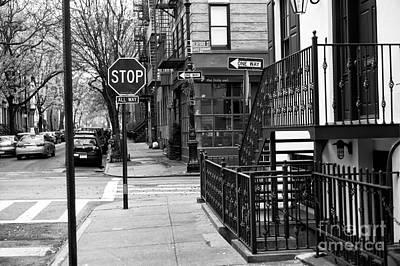 Stop In Greenwich Village Poster by John Rizzuto
