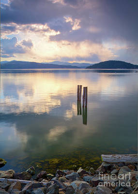 Storm Across The Bay Poster by Idaho Scenic Images Linda Lantzy