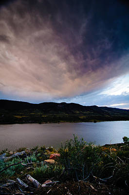 Storm Clouds Over Horsetooth, Colorado Poster by Preston Broadfoot