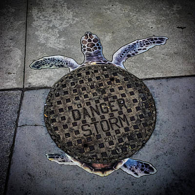 Storm Drain Poster by Martin Newman