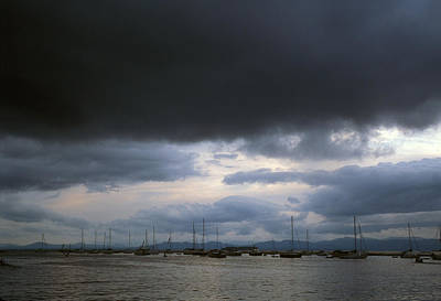 Storm Over Lake Champlain Poster by John Burk