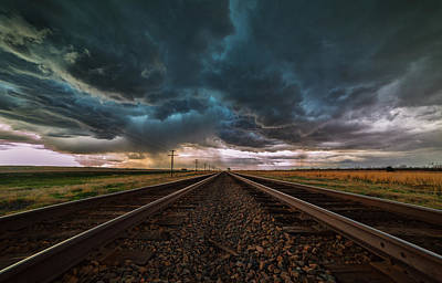 Storm Tracks Poster by Darren  White