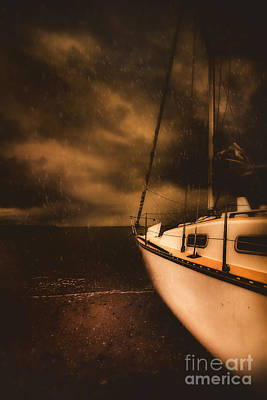 Stormy Artistic Portrait Of A Yacht Poster by Jorgo Photography - Wall Art Gallery