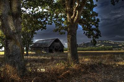 Stormy Barn Poster by JM Photography    Jim Mullholand