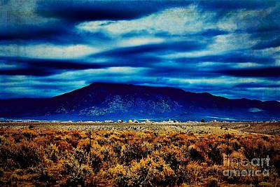Stormy Day In Taos Poster by Charles Muhle