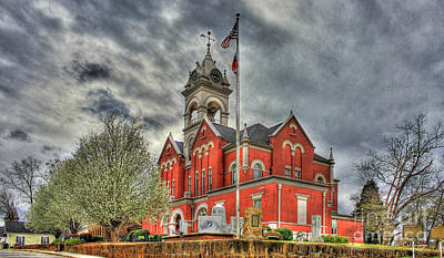 Stormy Day Jones County Georgia Court House Art Poster by Reid Callaway