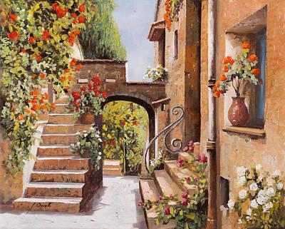 stradina di Cagnes Poster by Guido Borelli