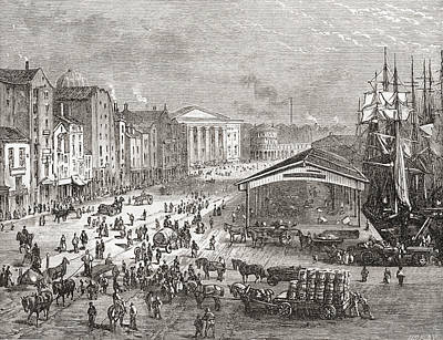 Strand Street And Custom House Poster by Vintage Design Pics