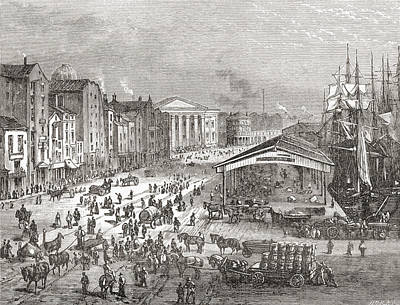 Strand Street, Liverpool, Lancashire Poster by Vintage Design Pics
