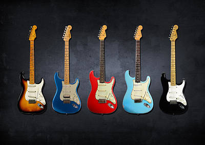 Stratocaster Poster by Mark Rogan