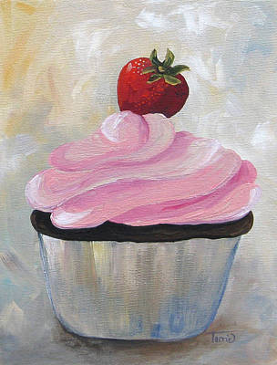 Strawberry Cupcake  Poster by Torrie Smiley
