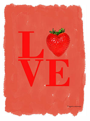 Strawberry Poster by Mark Rogan