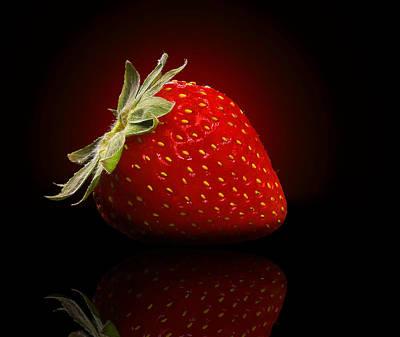 Strawberry Sensuality Poster by Georgiana Romanovna