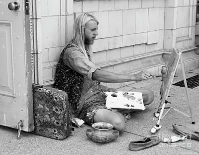 Street Artist Poster by Barbara McMahon