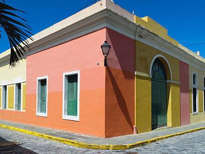 Street Corner In Old San Juan Poster by George Oze