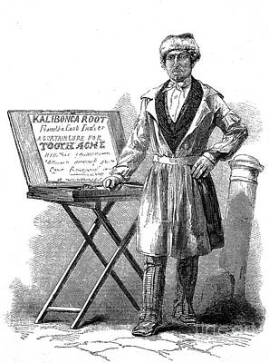 Street Herbalist Selling Quack Cure Poster by Wellcome Images