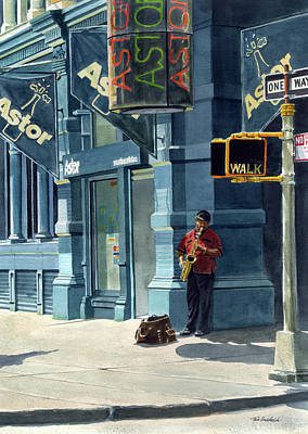 Street Musician Poster by Tom Hedderich