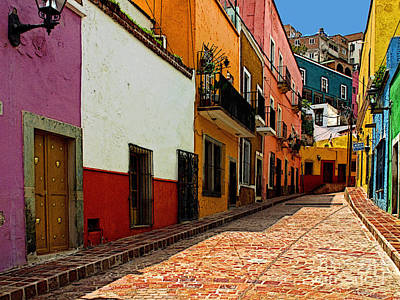 Street Of Color Guanajuato 5 Poster by Mexicolors Art Photography