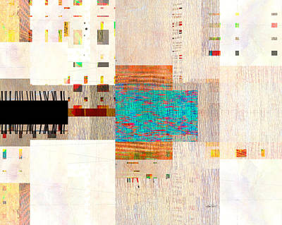 Street View - Abstract Art  Poster by Ann Powell