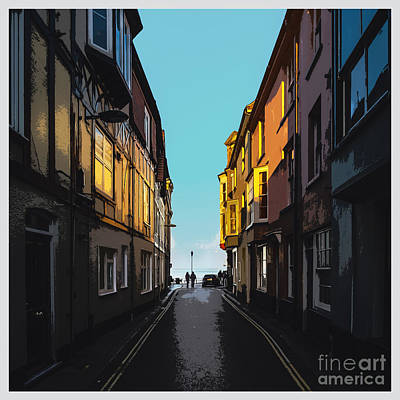 Street With A View Poster by Bedros Awak