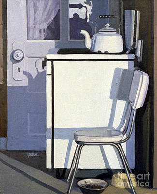 Study In White Enamel Poster by Donald Maier
