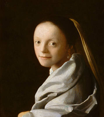 Study Of A Young Woman Poster by Jan Vermeer