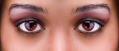 Stunning Eyes Poster by Val Black Russian Tourchin