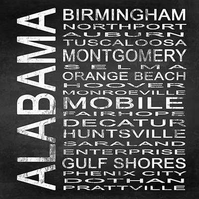 Subway Alabama State Square Poster by Melissa Smith