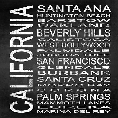 Subway California State Square Poster by Melissa Smith