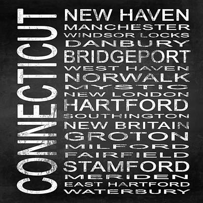 Subway Connecticut State Square Poster by Melissa Smith