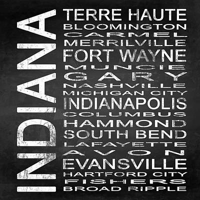 Subway Indiana State Square Poster by Melissa Smith