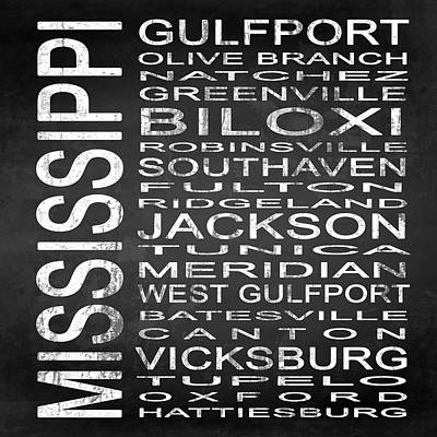 Subway Mississippi State Square Poster by Melissa Smith